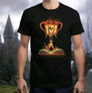 NEW Mens M Harry Potter Goblet Fire 4th Book Tee